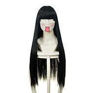 Γυναικείο Συνθετικές Περούκες Χωρίς κάλυμμα Μακρύ πολύ μακριά Ίσια Μαύρο Περούκα άνιμε φορεσιά περούκες