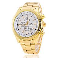 Pánské Hodinky k šatům Módní hodinky Náramkové hodinky Křemenný Kalendář Slitina Kapela Zlatá Bílá Černá Modrá