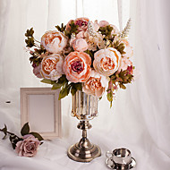 1 Bouquet Artificial Flowers 8 Heads Artificial Peonies Silk Flower Party Decoration Flower Wedding Christmas Home Decor Flower