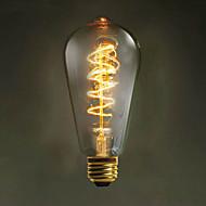 :: e27 st64 vezeték körül 60W 220V-240V Edison retro dekoratív izzók