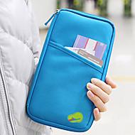 1枚 旅行用ウォレット パスポート&IDホルダー 防水 防塵 携帯式 多機能 のために 小物収納用バッグ クロス-ブラック レッド グリーン ブルー ピンク