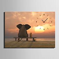 Moderni/nykyaikainen Eläimet Seinäkello,Suorakulma Kanvas35 x 50cm(14inchx20inch)x1pcs/ 40 x 60cm(16inchx24inch)x1pcs/ 50 x