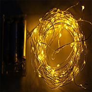 2m 10led 3aa batteridrevet vandtæt dekoration førte kobbertråd lys streng til jul festival bryllupsfest