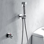 Moderne Système de douche Douchette inclue Thermostatique with  Soupape en laiton Mitigeur deux trous for  Chrome , Robinet de douche
