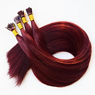 I wskazówka keratyna fuzji ludzkich włosów rozszerzeniach brazylijski włosy # 350 ciemny bordowy brazylijski włosy 50 100 szt / lot