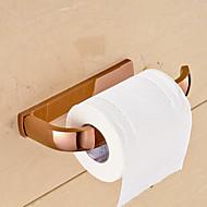 Toiletrolhouder Ti-PVD Muurbevestiging 7.9*3.5*1.1 inch Messing Modern