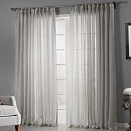 2 paneeli Window Hoito Maalaistyyliset , Tukeva Makuuhuone Polyesteri materiaali Läpinäkyvät verhot Shades Kodinsisustus For Ikkuna