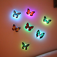 luminous butterfly wall stickers creative sweet bedroom metope of children room decoration room light wall stickers