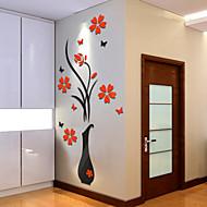 Kasvitieteellinen Wall Tarrat 3D-seinätarrat Koriste-seinätarrat,Vinyyli materiaali Kodinsisustus Seinätarra