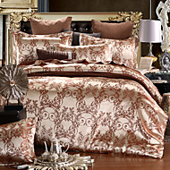 Poplun Cover Sets Cvijetan 4 komada Silk/Cotton Blend Jacquard Silk/Cotton Blend 4kom (1 duvet Cover, 1 Stan list, 2 Shams)