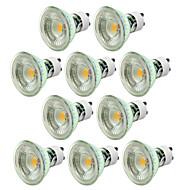 5W GU10 Spot LED MR16 1 COB 500 lm Blanc Chaud Blanc Froid Gradable AC 100-240 V 10 pièces