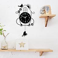 Moderne/Contemporain Bureau / Affaires Ecole/Diplôme Amis Famille Horloge murale,Nouveauté Bois 70*36 Intérieur Horloge