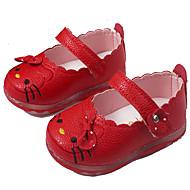 Mädchen Baby Flache Schuhe Komfort Leuchtende Sohlen PU Frühling Sommer Herbst Normal Komfort Leuchtende Sohlen Flacher AbsatzWeiß Rot