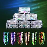6SET Nail Art Decoration tekojalokivi Pearls meikki Kosmeettiset Nail Art Design