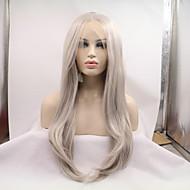 Žene Siva Ravna Prirodna linija za kosu Sintentička kosa Lace Front Prirodna perika Kostim perika