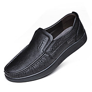 Loafers & Slip-Ons-Outddor Büro Lässig Party & Festivität-Leder-Flacher Absatz-Mokassin Komfort-Schwarz Gelb Braun