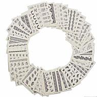 1set 48pcs Nail Art tarra Veden siirto Decals Lace Tarra meikki Kosmeettiset Nail Art Design