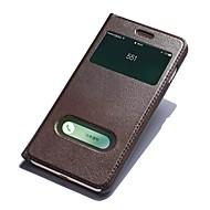 Para iPhone 8 iPhone 8 Plus Case Tampa Com Suporte com Visor Flip Corpo Inteiro Capinha Côr Sólida Rígida Couro Legítimo para Apple