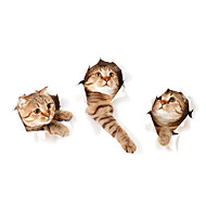 3D Wall Stickers Wall Decals Style Super Adorable Cat PVC Wall Stickers