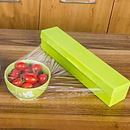 1pcs 핫 판매 스테인레스 스틸 블레이드 방부제 플라스틱 랩 디스펜서 집착 필름 커터 홀더 절삭 상자 가정 부엌 식사 바 임의의 색상