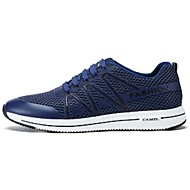 Men's Sneakers Spring Fall Comfort PU Outdoor Casual Athletic Flat Heel Lace-up Gray Blue Running