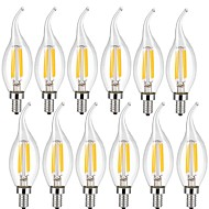 4w e14 ampoules filament ca35 4 cob 400 lm blanc chaud blanc frais décoratif 220-240 v 12 pcs