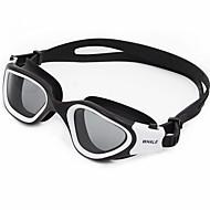 수영 고글 안티 - 안개 안티 웨어 방수 안티 UV 부서줌 방지 근시의 경우 실리카 겔 PC 옐로 화이트 그린 레드 블루 옐로 레드 라이트 블루 실버