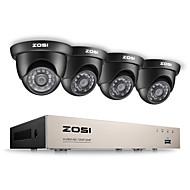 Zosi® 8ch hd-tvi 1080p sistem de avertizare video de înaltă definiție dvr cu 4x hd 1280tvl aparat foto cctv rezistent la intemperii