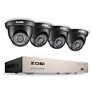 Zosi® 8ch hd-tvi 1080p lite видеосистема видеонаблюдения dvr-рекордер с 4x hd 1280tvl атмосферостойкой видеокамерой cctv