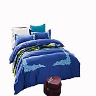 布団カバーセット 純色 4個 反応染料 1×布団カバー 2×枕カバー 1×枕カバー