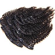 100% hiuksista luonnollisen leikkeen ihmisen hiusten pidennykset kinky culry Brasilian hiukset leikkeen ojennuksessa 10kpl / set 120g