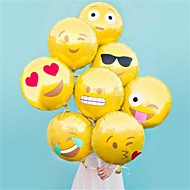 8 pcs / set balão emoji balão de alumínio de 18 polegadas bolha balões decoração do partido quente casa