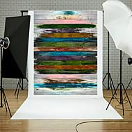 5x7ft Holzwand Stock Fotografie Hintergrund Studio Requisiten blau board Thema neu