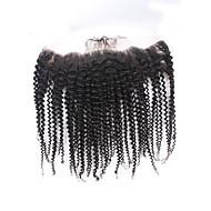 pre kynitty Brasilian 13x4 kinky kihara pitsi edestä sulkeminen vauvan hiukset korvien 13x4 pitsi edestä sulkeminen neitsyt hiuksista