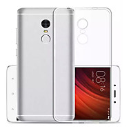 Para Ultra-Fina Transparente Capinha Capa Traseira Capinha Cor Única Macia TPU para Xiaomi Xiaomi Redmi Note 4X