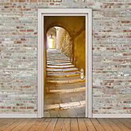 Door Stickers Architecture Wall Stickers 3D Wall Stickers Decorative Wall StickersVinyl Material Home Decoration Wall Decal