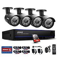 Annke® 4ch 4pcs 1080p видеокамера водонепроницаемая система видеонаблюдения система интеллектуального расписания 1tb