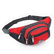 Herren Taschen Ganzjährig Nylon Hüfttasche mit für Normal Sport Rote Hellblau Purpur Grün Rose Rot