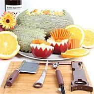 4 darab DIY Mold Spoon Leválasztó és reszelő Cutter & Slicer Konzervnyitó For Gyümölcs Növényi Mert főzőedények Műanyag Rozsdamentes acél