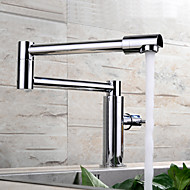 Contemporary Pot Filler Centerset Rotatable with  Ceramic Valve Single Handle One Hole for  Chrome , Kitchen faucet