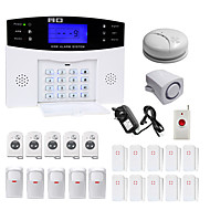Danmini lcd wirless gsm / pstn home casa escritório de segurança ladrão intruso alarme sistema indução de fumaça