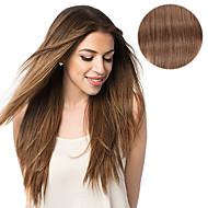 100 % 인간의 머리를 18 인치 14inch 머리 확장에 7 개 / 설정 # 6 밤나무 갈색 클립