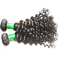 8a indyjska głęboka fala wigilii włosy 3bundle 300g partia nieprzerwane indyjskie ludzkie włosy rozszerzenia tkaje naturalny czarny kolor