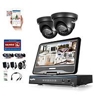 Sannce® 4ch 1080p dvr с lcd системой защиты от непогоды, поддерживаемой 720p аналоговой и IP-камерой без hdd