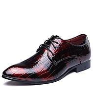 Herrer Sko Læder Forår Sommer Efterår Vinter Bullock sko Formelle sko Modestøvler Oxfords Gang Kombination Til Bryllup Fest/aften Sort