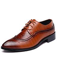 Herrer Oxfords Bullock sko Formelle sko Modestøvler Læder Forår Sommer Efterår Vinter Bryllup Fest/aften Gang Kombination Flad hælSort