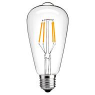 4W E26/E27 Ampoules à Filament LED ST64 4 COB 360LM lm Blanc Chaud Blanc Froid Décorative AC 100-240 V 1 pièce