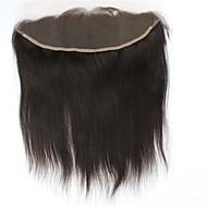 8a Brasilian remy ihmisen hiukset silkki suorat vapaa osa 13 * 4 korva-korvan pitsi edessä sulkeutuvat vauvan hiukset 100%
