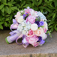 Bryllupsblomster Buketter Bryllup Perler Blonde 9.84 tommer (ca. 25cm)
