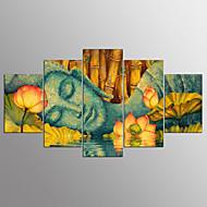 Strukket Lærred Print Abstrakt,Fem Paneler Kanvas Horisontal Print Vægdekor For Hjem Dekoration
